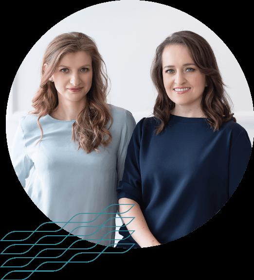 Karolina Cicha i Anna Kuncewicz razem na okrągłym zdjęciu